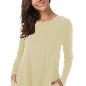 Tops - Women's Long Sleeve Lace Tunic Top with Pockets